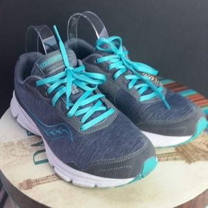 Womens Saucony Sapphire Gray Running Shoes